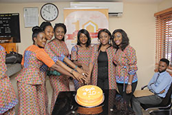 ED(Mrs. Anu Durojaye Durojaye) & Some Staff During The Customer Week